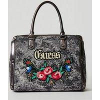 Guess Badlands Embroidered Denim Bag