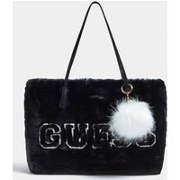 Guess Elka Shopper With Faux Fur
