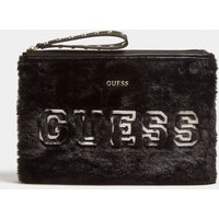 Guess Elka Pochette With Faux Fur