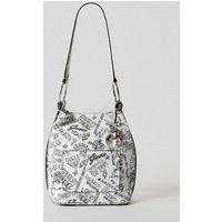 Guess Sally Logo Pattern Bucket Bag