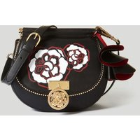 Guess Glory Maxi Flower Leather Saddlebag