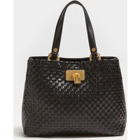 Guess Lola Braided Leather Shopper
