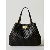Guess Lola Large Braided Leather Shopper