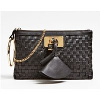 Guess Lola Braided Leather Pochette