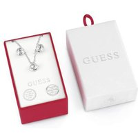 Box Set With White Crystal Earrings And Necklace