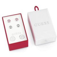Box Set With White And Pink Crystal Earrings