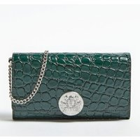 Atlas Genuine Leather Croc Print Wallet