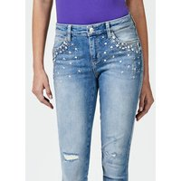 Guess Appliqué Jewel Skinny Jeans