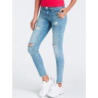 Abrasion Detail Skinny Jeans