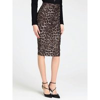 Animalier Calf-length Skirt