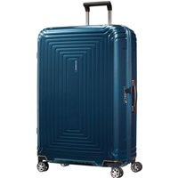 Samsonite Neo pulse metallic blue 4 wheel 75cm spinner, Blue