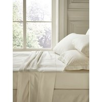 Fable Fable superking fitted sheet pearl, White