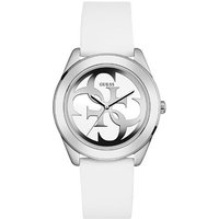 Guess W0911l1 ladie`s silicone strap watch, White