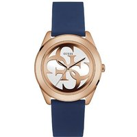 Guess W0911l6 ladies silicone strap watch, Rose Gold