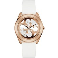 Guess W0911l5 ladies silicone strap watch, Rose Gold