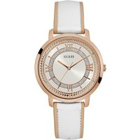 Guess W0934l1 ladies leather strap dress watch, Rose Gold