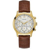 Guess Ladies Leather Strap Watch, Gold