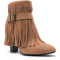 Qupid Madge fringe boot, White - Shoes Gifts