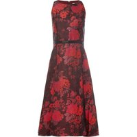 Tahari ASL Fit And Flare Floral Dress, Red