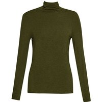French Connection Isla Polo Neck Long Sleeved Top, Olive - Polo Gifts
