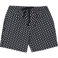 Men's French Connection Indy Ikat Cross Stretch Shorts, Blue Marine/Milk