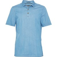 Men's French Connection The Three Ages Of Denim Polo Shirt, Bleach