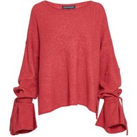 French Connection Tie Wrist Scoop Neck Knit Jumper, Red