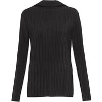 French Connection Lou Pleated High Neck Top, Black