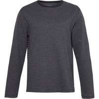 Men's French Connection Double-Faced Alternative Striped T-Shirt, Black & Grey