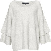 French Connection Urban Flossy Ruffle Sleeve Jumper, White