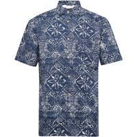 Men's French Connection Delon Hawaiian Shirt, Marine - Hawaiian Gifts