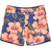 Men's French Connection Wela Hawaiian Casual Swimshort, Cobalt - Hawaiian Gifts