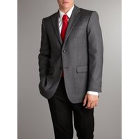 Men's Linea Formal single-breasted birdseye jacket, Grey