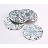Arthur Price Silver Plated Coasters Set of 4, Silver - Kitchen Gifts