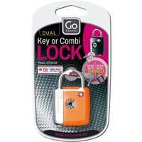 Go Travel Dual combination key padlock, assorted colours - Travel Gifts