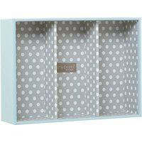 London Clock Blue polka dot jewellery box base  Blue