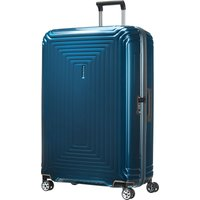Samsonite Neo pulse metallic blue 4 wheel 81cm spinner, Blue