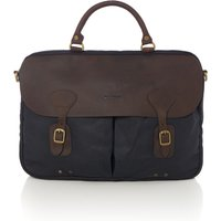 Barbour Wax leather briefcase, Blue