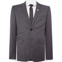 Men's Ted Baker Single Breasted Giraffe Tonal Check Suit Jacket, Grey