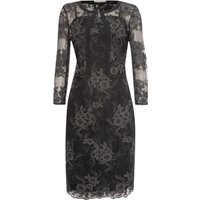 Shubette Two piece lace dress and matching jacket, Black