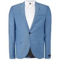 Men's Label Lab Terrell SB1 Notch Lapel Textured Suit Jacket, Blue