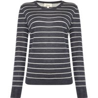 Linea Merino Stripe Jumper, Grey