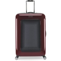 Ted Baker Herringbone burgundy 8 wheel large suitcase, Red