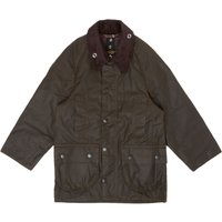Barbour Boys Classic Beaufort Cord Collar Wax Jacket, Olive