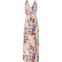 Ariella Side wrap maxi dress, Coral
