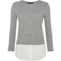 Episode Long sleeve double layer jumper, Heather