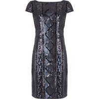 Adrianna Papell Cap Sleeve Beaded Cocktail Dress, Blue