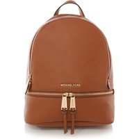 Michael Kors Rhea tan medium backpack, Tan