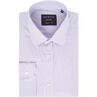 Men's Howick Tailored Pine Micro Stripe Shirt, Lilac - Lilac Gifts