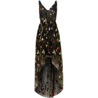 Adrianna Papell Sleeveless V Neck Floral High Low Dress, Coral